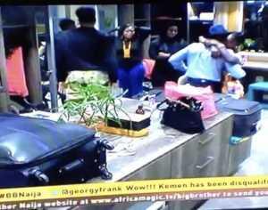 Watch Kemen Leave Big Brother Naija House, Give TBoss Final Goodbye Hug
